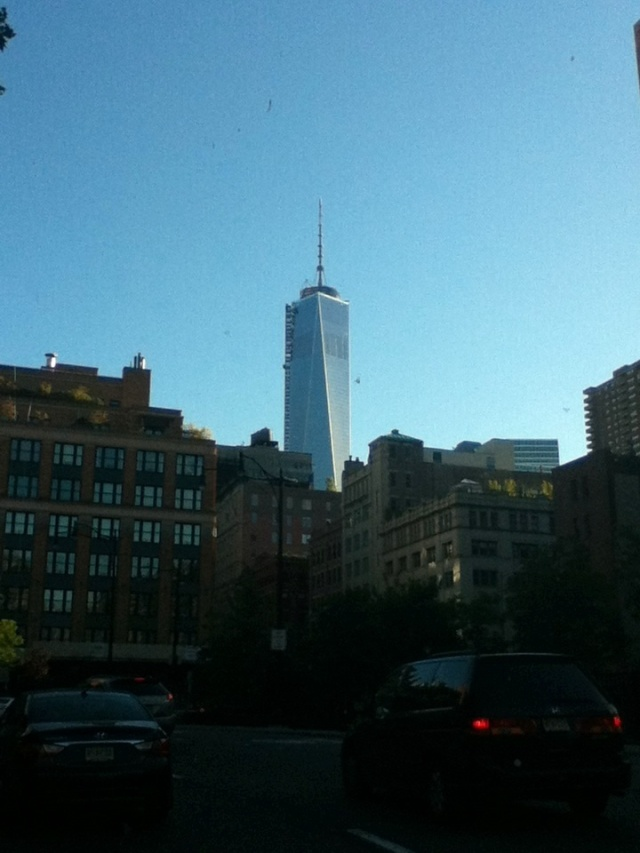 The Freedom tower shines bright