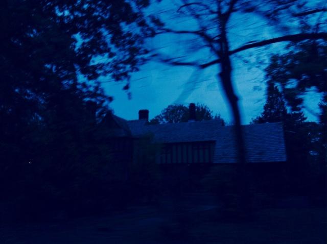 The spooky blue house