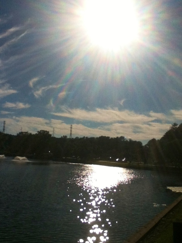 Clouds, sunshine, and water